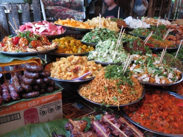 Food options at the market