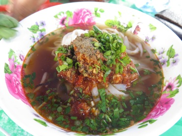 Spicy pork noodle soup