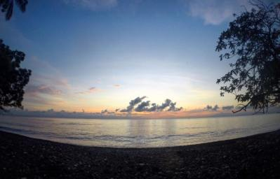 Sunrise over Tulamben
